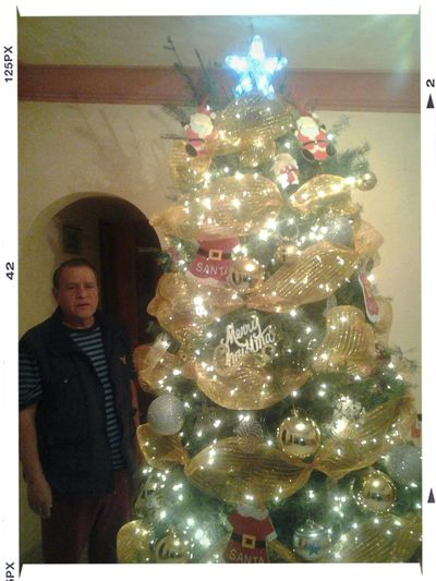 Xmas tree Jilomondongoooo!!! (Dad posando para la pic) - q empiece la Navidaaaaaaaaaad Xmas Favoritemonth Holydays 2014