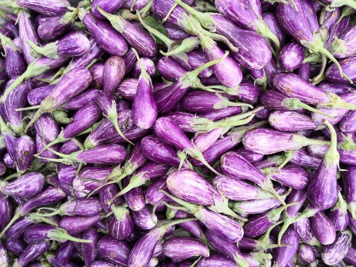 Full frame shot of purple for sale in market