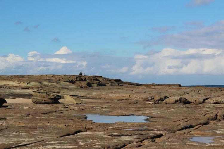 Norah Head, Central Coast, New South Wales Beauty In Nature Blue Climate Cloud - Sky Day Environment Land Landscape Nature Non-urban Scene Outdoors People Real People Remote Rock Rock - Object Scenics - Nature Sky Solid Tranquil Scene Tranquility Water