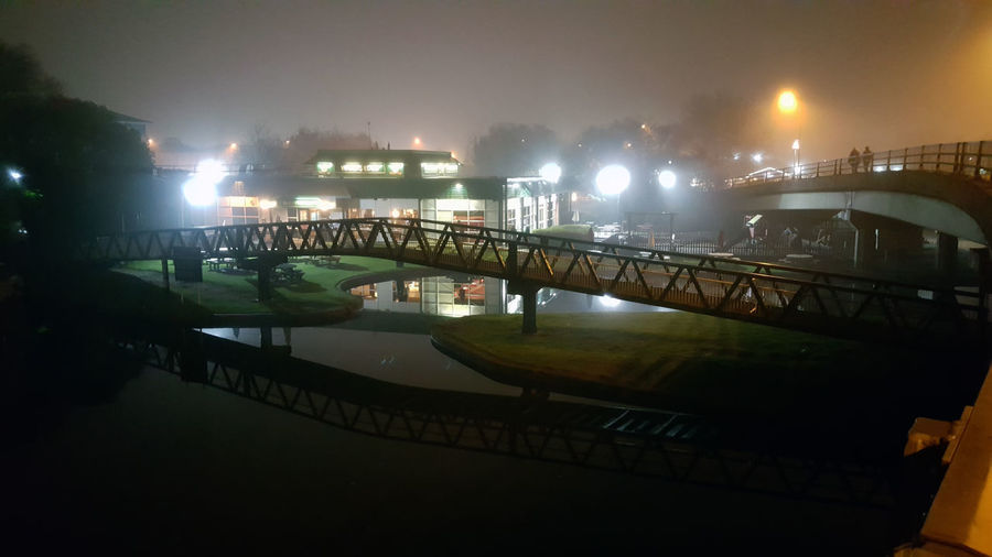 Foggy evening by the Nottingham Canal Misty Night Lights Night Photography Nightphotography Nottingham Architecture Bridge Bridge - Man Made Structure Building Exterior Built Structure City Connection England Fog Foggy Illuminated Mist Night Outdoors River Sky Town Warter Reflections Water Waterfront
