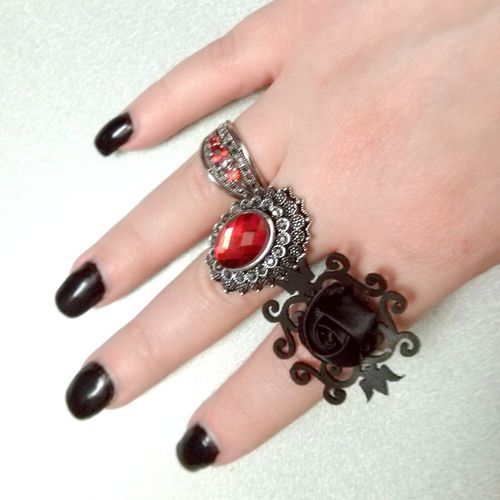 Fancy new rings. Notgoing to wear all at once. 8 ) Jewelry Fashion Gothic