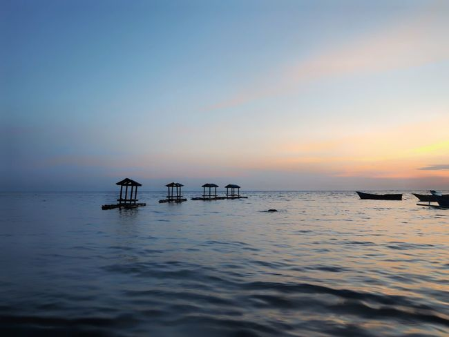 at Biak Numfor Bay Sea Tranquility Water Tranquil Scene Reflection