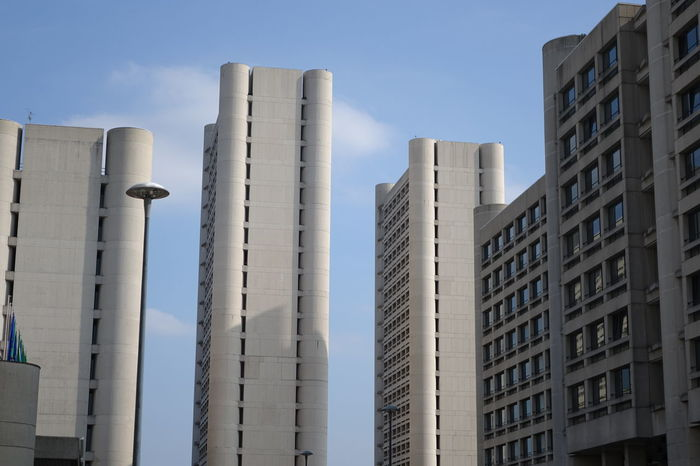 Buildings Business City Life Modern Architecture Simmetrical Building Tower