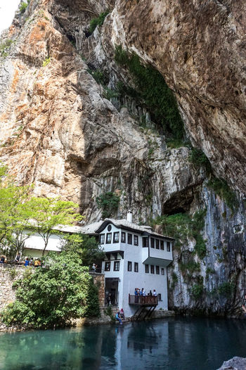 Blagaj Blagaj Tekija Bosnia And Herzegovina Mostar Nature Rock Travel Architecture Beauty In Nature Beauty In Nature Building Building Exterior Built Structure Nature Outdoors Plant Religion Rock Rock - Object Rock Formation Tourism Travel Destinations Tree Water Waterfront