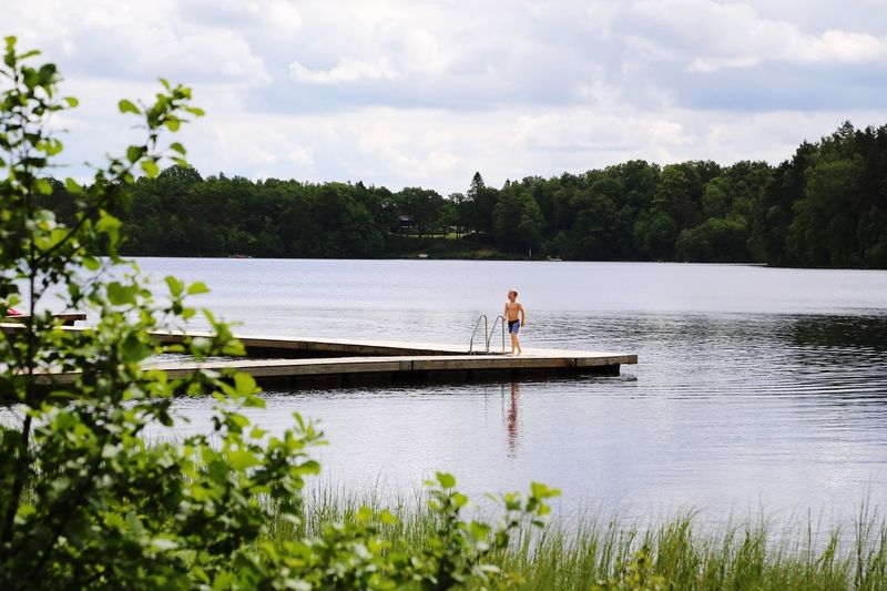 Summer Summertime Lake View Lake Lakeside Jetty Boy Kid Swimming Bath Time Bathing Suit  Nature_collection Naturelovers Nature Photography Forest
