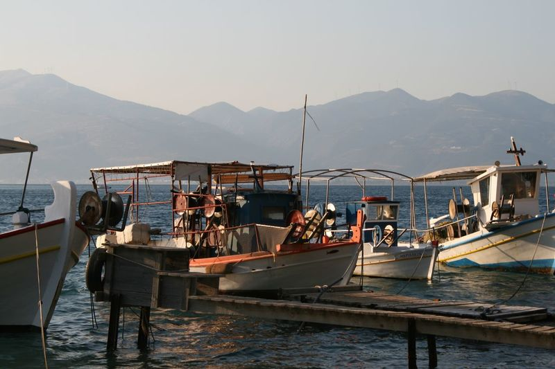 Nautical Vessel Sea Water Harbor Mountain Travel Destinations Vacations Landscape Moored Day Outdoors No People Nature