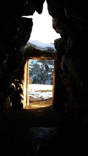 Cave Sunlight Snow Cold Weather Hittite Great Time