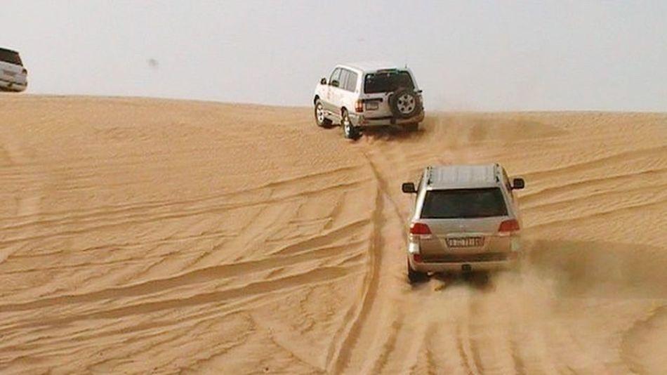 Desert Safari In UAE Land Cruiser Off Road Driving At The Dunes