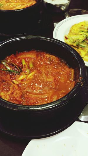 Kimchi soup with glass noodles Kimchi Korean Food TheBreadeats Eating