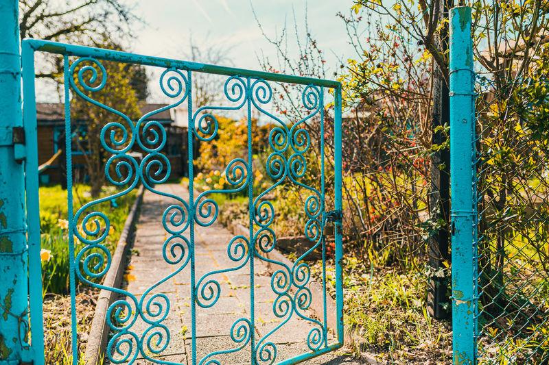 Graffiti on metal gate