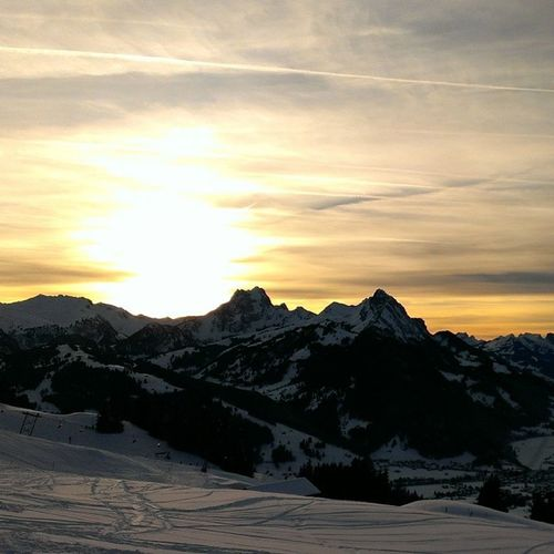 Great Start to 2014 Sundowner Punch Skiing Gstaad switzerland alps mountains nofilter beauty nature outdoor