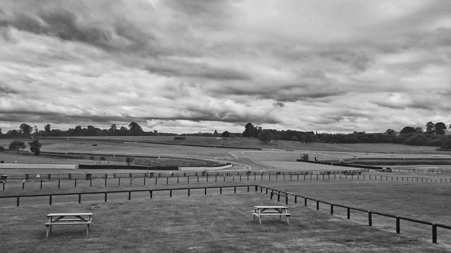 View of oulton park against cloudy sky