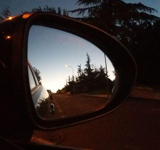 Side-view Mirror Sunset Reflection Retrovisor Retroviseur Amanecer First Eyeem Photo