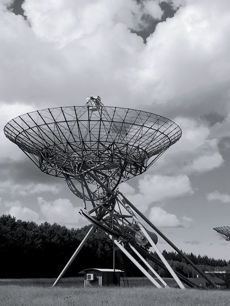 Monochrome Photography Radio Telescope Westerbork