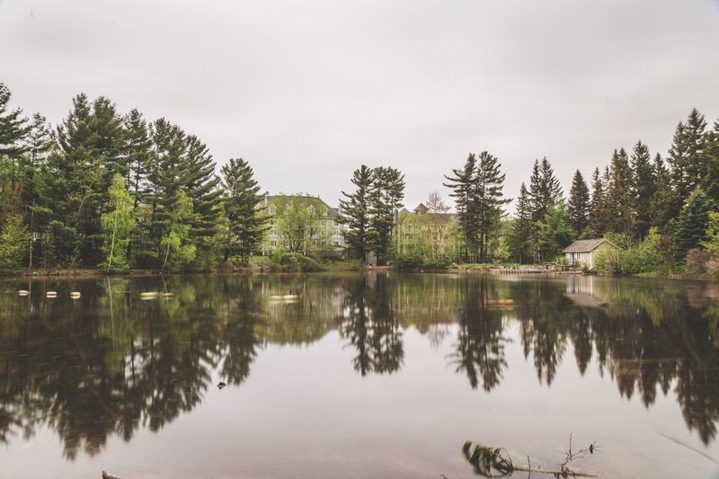 Mirror lake, Mont-Tremblant Tree Reflection Tranquility Tranquil Scene Nature Water Beauty In Nature Lake No People Outdoors Scenics Architecture Eyeemphotography Urban Magazine Live For The Story EyeEm Gallery Canada Eyeem Market Ottawa Market Travel Photooftheday Editorial  Eye4photography