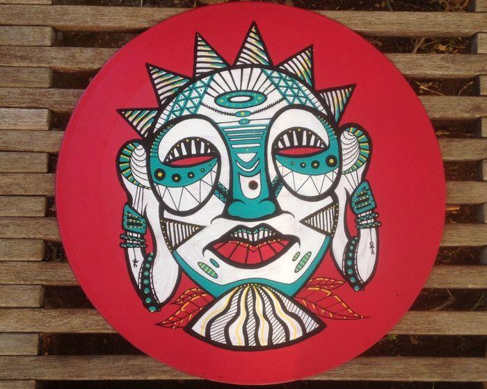 Painting Posca Poscamarkers Vinyl Vinil Vinyl Records