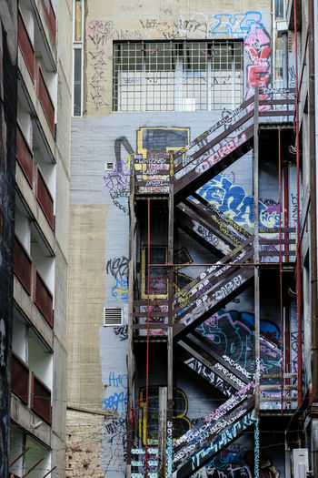 Fire Escapes On An Apartment Building