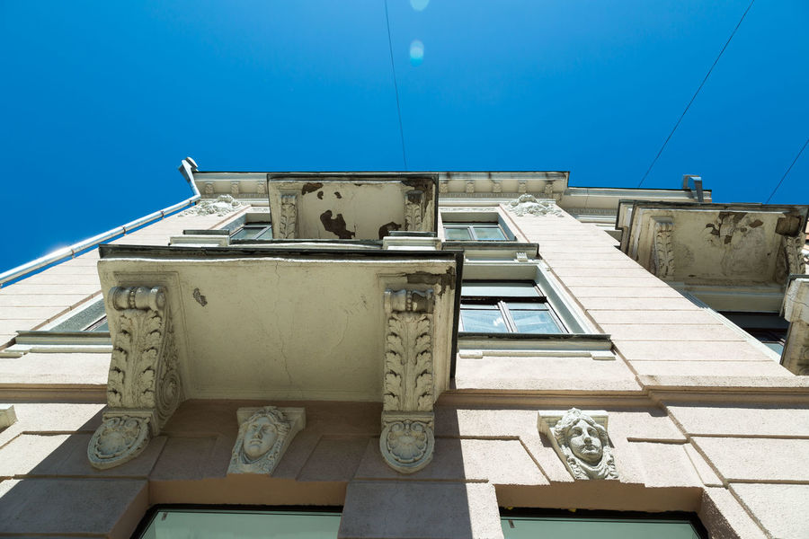 Beautiful soviet architecture in Poltava, Ukraine Architecture Balcony Buildings Old Architecture Poltava Real Estate Sightseeing Soviet Soviet Architecture Tourism Tourism Destination Tourist Ukraine
