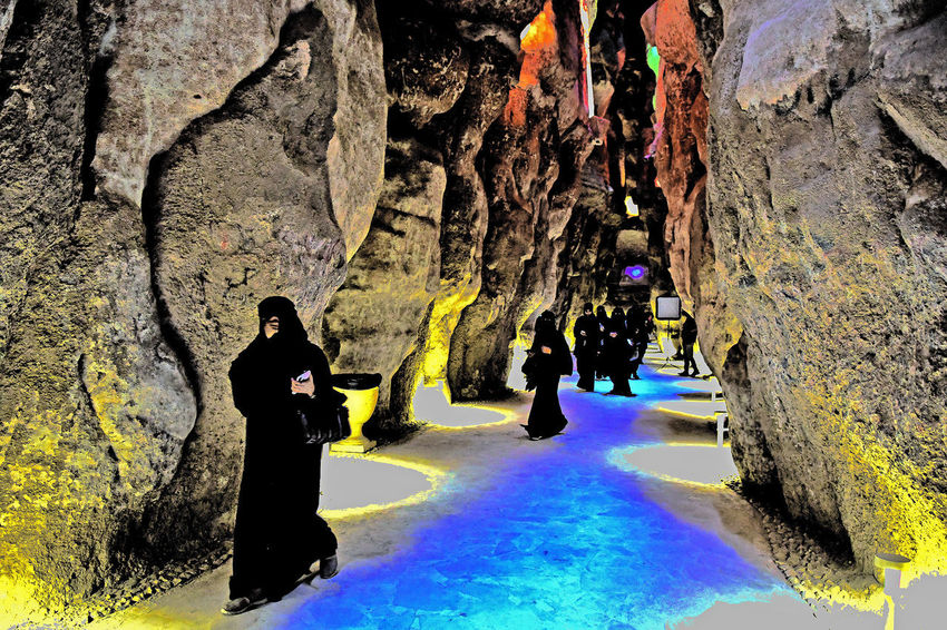 Women in Black Abaya walking Abaya And Hijab Times Press For Progress Abaya Abaya And Heels Abayawoman Abayaz61 Beauty In Nature Black Abaya Cave Day Full Length Leisure Activity Lifestyles Men Nature One Person Outdoors People Real People Rock - Object Tree Water Woman In Black Women