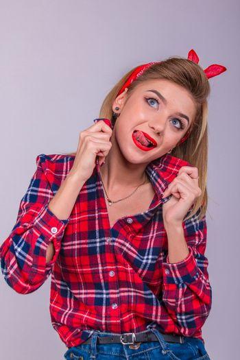 Fashion Studio Shot Person Young Women Portrait
