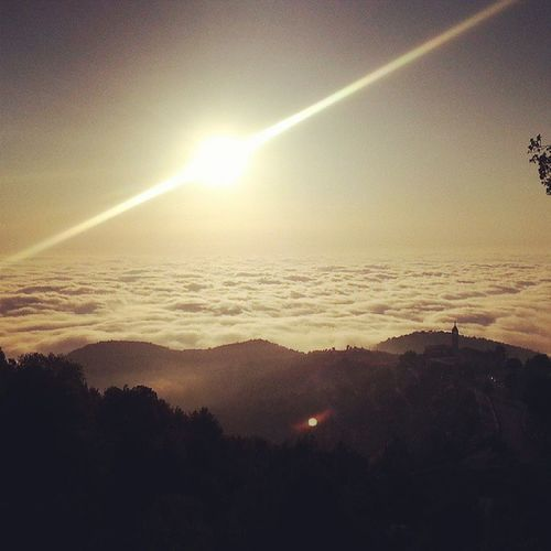 Qartaba Marcharbel  Sunset Amazing views majestic clouds mountains trees breathtaking pic
