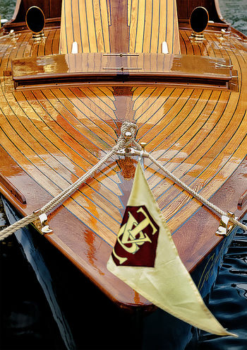 Tender (boat) Afloat Pleasure Boat Rope Boat Brass Flag Moored Boat Nautical Vessel Tender Water Wooden