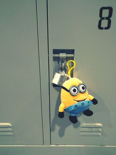 Extra Secure 😂 Cute Minion  Tag Padlock Locker Room Despicableme Minions Eight Locker Room HKUST Here Belongs To Me Things I Like Fun FunnyCampus College Student Life Secure Locked