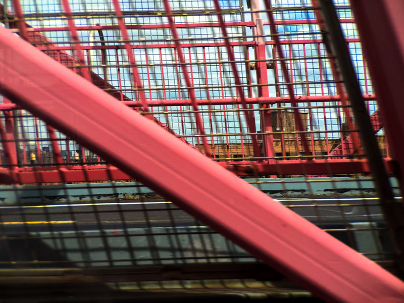 Architecture Brooklyn Building Built Structure City City Life Day Manhattan Moment Momentcase Motion No People Pink Rails Travel Williamsburg