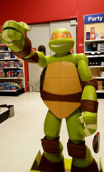 Turtle Ninja Business Finance And Industry Toys Store Standing Indoors