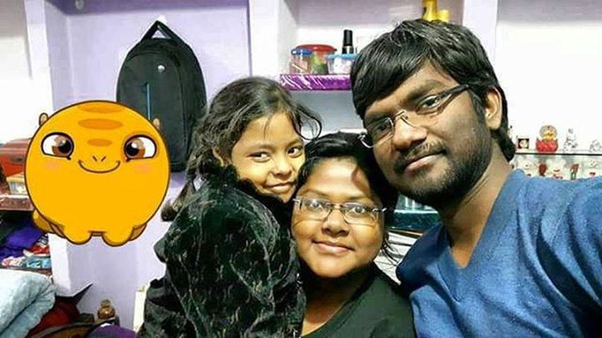 With Sister @& Niece  Cute Girl Rajshree AmritaDi Mausi & Mama Uncle Aunt  Home Buxar Christmas Evening