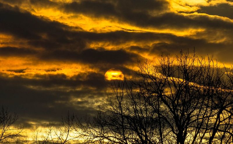 Sky Cloud - Sky Sunset Beauty In Nature Tranquility Tranquil Scene Scenics - Nature Silhouette Orange Color Dramatic Sky