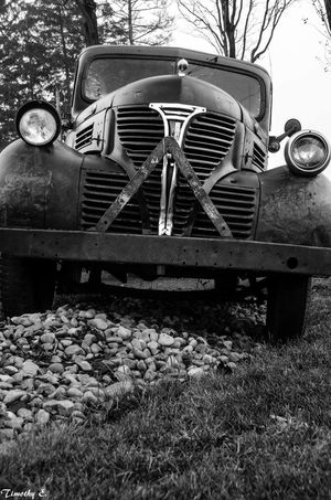 Transportation Old-fashioned Retro Styled Car Headlight Nikon D7000 Ontario, Canada London Ontario Canada NikonLife Black And White Photography Monochrome Canada Coast To Coast MonochromePhotography