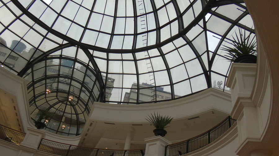 SAO PAULO BRAZIL Architectural Feature Architecture Built Structure Ceiling Day Dome EyeEm Gallery Eyeem Market EyeEm Team Façade Famous Place Geometric Shape Glass Indoors  Low Angle View Modern No People Popular Sky Skylight Tourism Travel Destinations