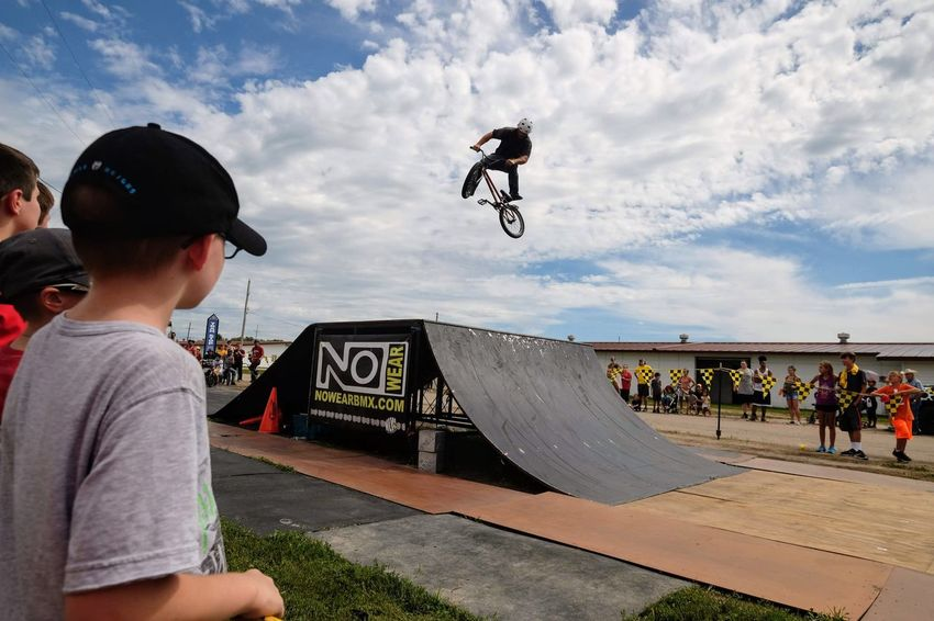 Nowear BMX Team Nebraska State Fair September 1, 2018 Grand Island, Nebraska Camera Work Check This Out Event EyeEm Best Shots FUJIFILM X-T1 Fujinon 10-24mm F4 Getty Images Grand Island, Nebraska Nebraska State Fair NowearBMX Photo Essay Photojournalism RISK Skill  Stunt Action Action Shot  Bicycle Bmx  Day Extreme Sports Freestyle Group Of People Leisure Activity Lifestyles Men Mid-air Motion Nature Outdoors People Real People RISK S.ramos September 2018 Skateboard Skateboard Park Skill  Spectator Sport Sports Equipment Sports Ramp Stunt