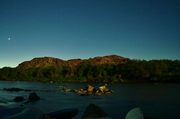 Landscape Night Landscape Nikon Night Photography River Riverside Orange River Boat Trip