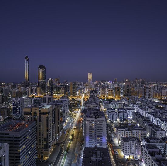 Abu dhabi city during sunset