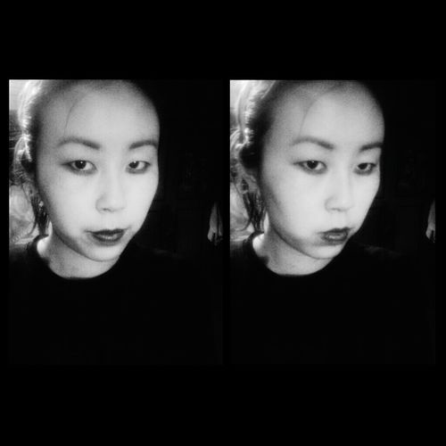 Blackandwhite Asian  Asian Girl Horror Asian Face Model