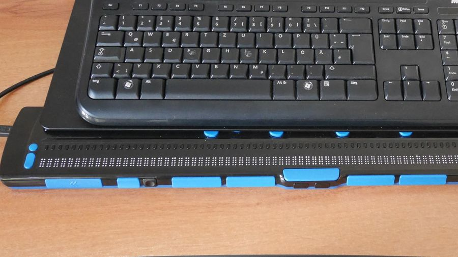High angle view of laptop on table