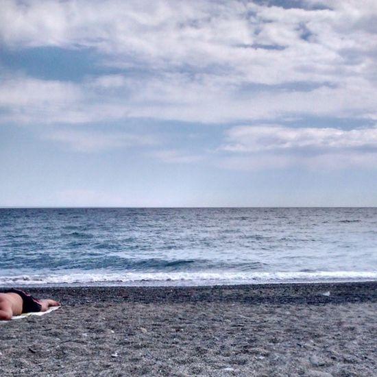 Sea Summer Hot Celleligure celle nofilter instasummer beach instabeach liguria italy sky love sadness