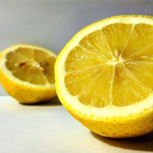 Two halves of lemon