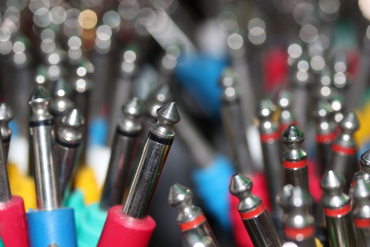 No worries about cable tangle. Cable Close-up Connection Electronic Music Shots Indoors  Jack Plug Large Group Of Objects Metal Multi Colored Music Brings Us Together No People Patch Cable Patchcords Plugs Shiny Still Life Variation
