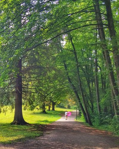 Green Color Tree Nature The Way Forward Real People Life Belt Pink Moment Trees Park Peoplephotography People Walking  Peopleonthestreet Slovenia Iloveslovenia