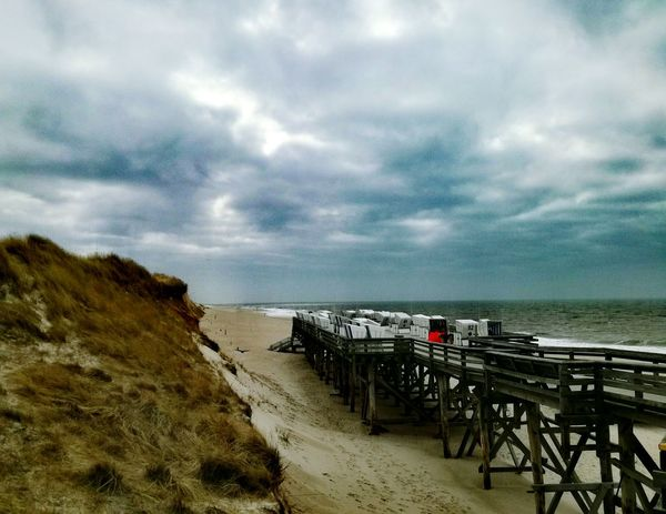 Beautiful Sylt Beach Sea Horizon Over Water Sky Water Cloud - Sky Nature Beauty In Nature Sand Sylt Strand Sylt_collection Sylt Sylt, Germany Outdoors Landscape Beauty In Nature Sylt Germany Stormy Sky Stormy Clouds Stormyweather Rotes Kliff Connected By Travel