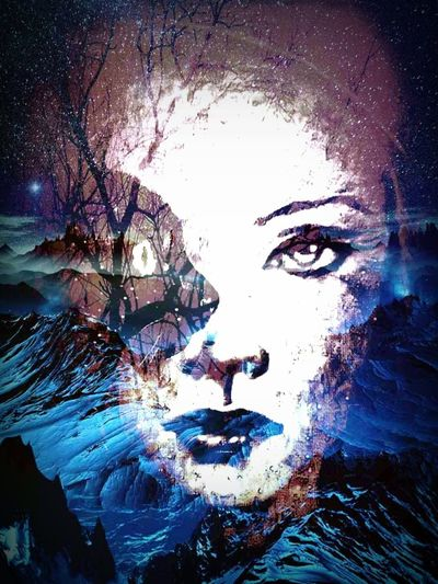 Dreamworld Collage Art Not Real Person Fantasy Human Lost In Space People Space Young Adult EyeEmNewHere