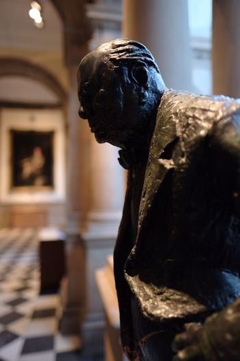 Statue Sculpture Art And Craft Human Representation Male Likeness Craft Focus On Foreground Close-up No People Day Indoors  Built Structure Architecture Winston Churchill