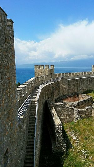 Ohrid fortress Tourist Destination Travel Destinations Macedonia Fortress Fortress View Fortress Wall Fortress Europe Fortress In Europe Fortress Of Stone History Place Historical Monuments Medieval Lake Ohrid Outdoors Outdoors Photograpghy  Ohrid Lake Lake Ohrid Macedonia Ohrid Macedonia Architecture History Built Structure Travel Destinations No People Sky Day