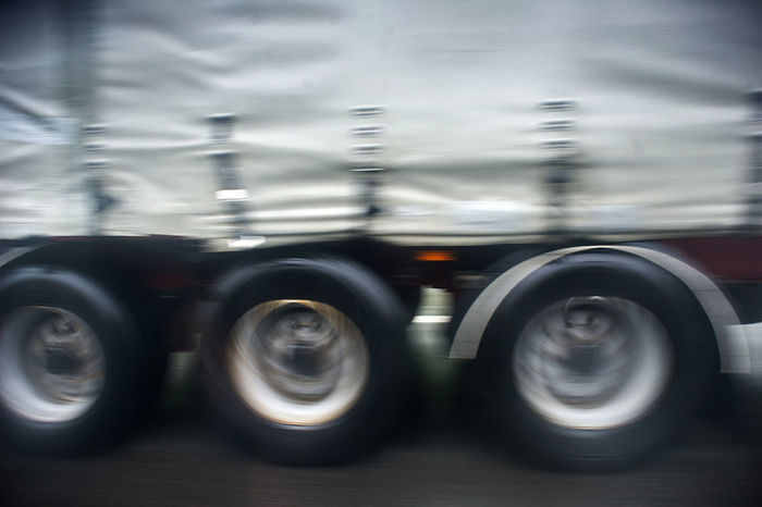 Lithuania Blurred Motion Freight Transportation Industry Land Vehicle Mode Of Transportation Motion Motor Vehicle No People on the move Road Semi-truck Shiny Silver Colored Speed Tire Transportation Travel Truck Trucking Vievis Wheel