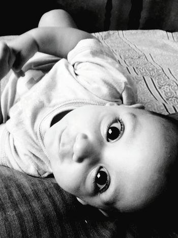 Babysitting Babyface Baby Photography Baby Smile Taking Photos Innocent Smile Innocence Of Youth Portrait Of Innocence Black & White Monochrome Photography