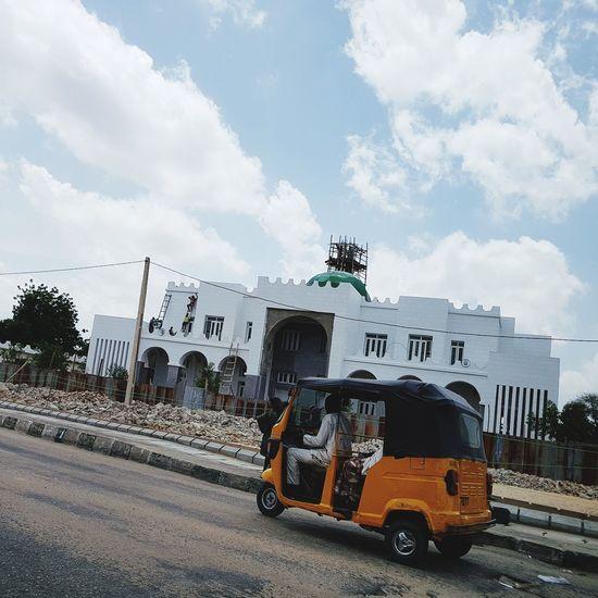Africa Nigeria maiduguri reportage mosque Islam Boko haram Road Day Outdoors Sky public transport
