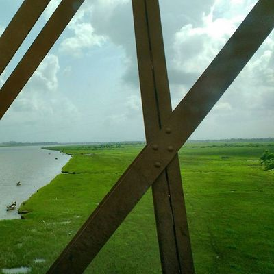 Crossing Golden Gate Bridge towards Bharuch , Gujarat. Vadodara Bharuch Gujarat Vibrantgujarat landscape bridge nature clouds river beautifilul devlali deolali nasik nashikgram india @narendramodi @igers_india